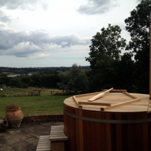 Pre-loved hot tub after being sold to a new home on the IoW, September 2013