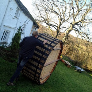 Delivery, base-preparation and set-up in less than three hours; Cumbria, November 2013