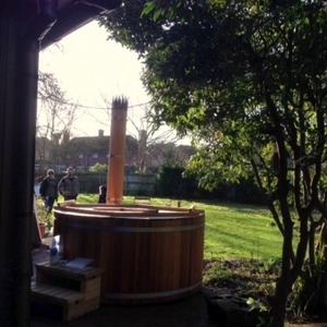 Pre-loved hot tub arrived home, Hertfordshire, February 2014