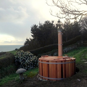 Pre-loved hot tub at its new home in Devon, March 2014
