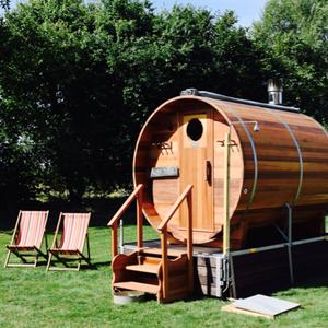 Hire a barrel sauna