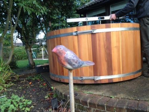 Pre-loved hot tub arrived home, Hertfordshire, February 2014