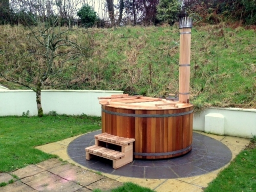 First hot tub we sold to Gower Peninsula, Ferbuary 2014