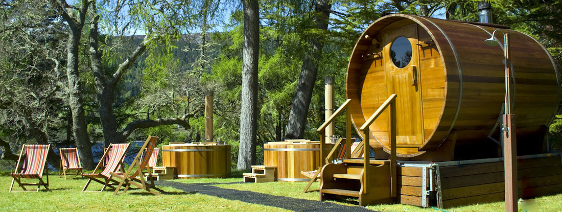 Wood-fired hot tubs & barrel saunas